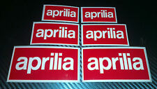 6 x Aprilia Box Logo Stickers Decals Motorcycle