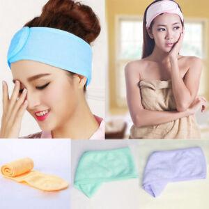 gros remise modèles à la mode détaillant Détails sur Soft Serviette Cheveux Bande Wrap Douche Bandeau pr Lavage  Maquillage Bain Spa