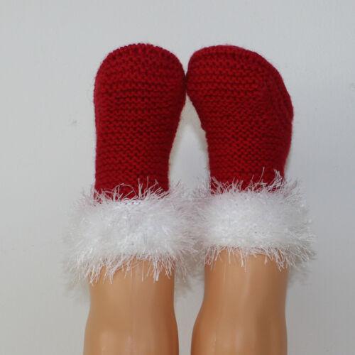 Imprimé explications tricot-bébé simple noël bottes knitting pattern