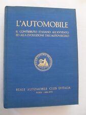 Giovanni Canestrini - Reale Autobile Club d'Italia - L'AUTOMOBILE - Roma - 1938