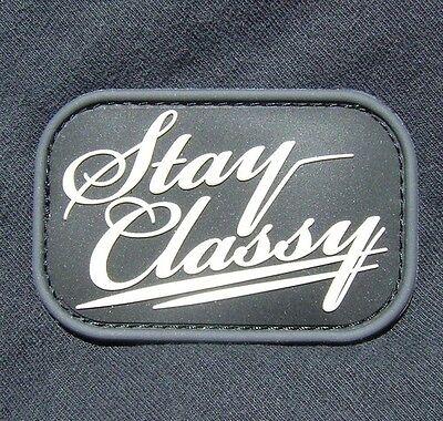 STAY CLASSY 3D RUBBER PVC MILSPEC BLACK OPS SWAT VELCRO® BRAND FASTENER PATCH