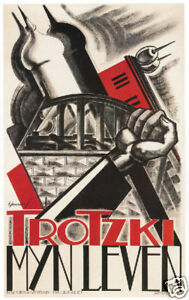 Leon-Trotsky-Trotski-My-Life-Dutch-art-poster-print