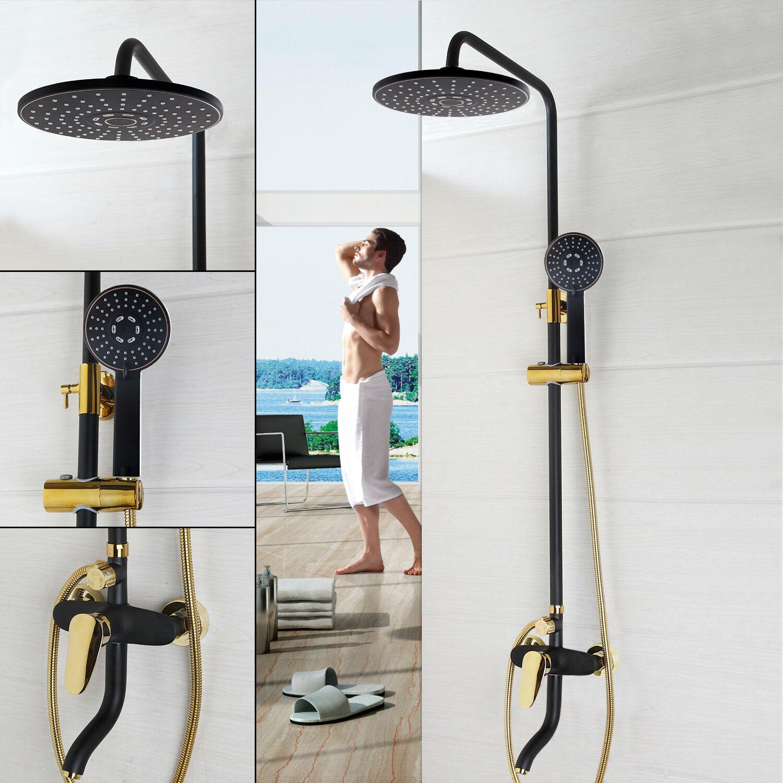 Nouveau mur monté salle de bains douche Set robinet 8  pluie tête de douche avec douchette