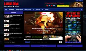 Gaming-News-Affiliate-product-website-100-automated-Premium-designed