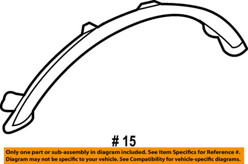HONDA OEM Accord Front Fender-Wheel Well Flare Arch Molding Left 08P21SDA1M011