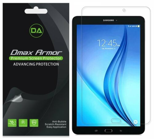 """Dmax Armor Clear Screen Protector for Samsung Galaxy Tab E NOOK 9.6/"""" 3-Pack"""