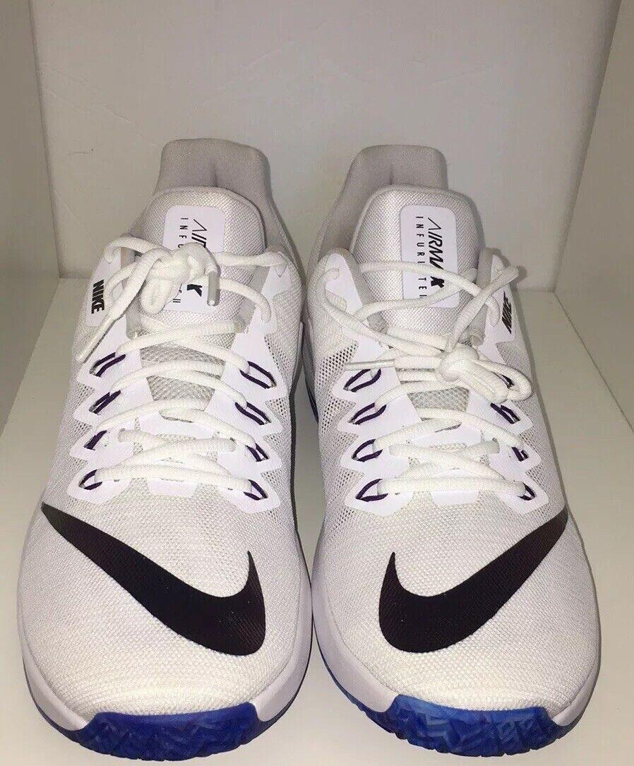 Nike Air Max Infuriate II AJ1933-140 Men Basketball shoes White Grey size 12