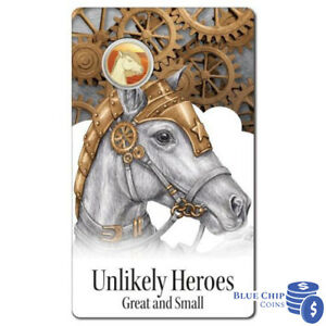 2015 $1 Unlikely Heroes Sandy the War Horse UNC Coin Australia