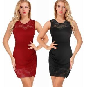 Women-Elegant-Party-Pencil-Bodycon-Dress-Sexy-Lace-Sleeveless-Evening-Cocktail