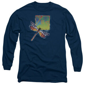 8b5ff1ec Details about YES DRAGONFLY Licensed Adult Men's Long Sleeve Graphic Band  Tee Shirt SM-3XL