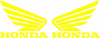 Honda Wing Goldwing Die Cut Decal - Set Of 2 - Yellow