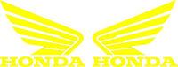 Honda Wing Goldwing Die Cut Decal - Set Of 2 - Yellow