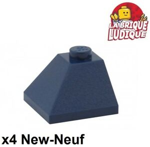 Lego 5 New Dark Blue Sloped 45 2 x 2 Double Convex Pieces