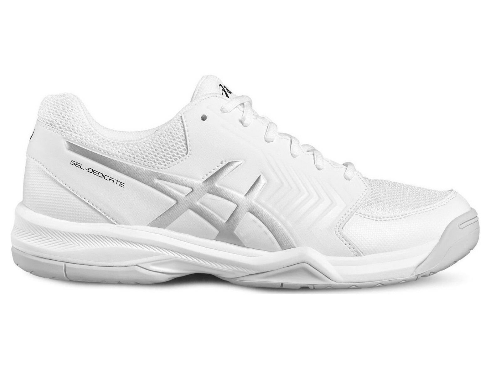 shoes TENNIS men ASICS  E707Y 0193  GEL DEDICATE 5 WHITE SILVER