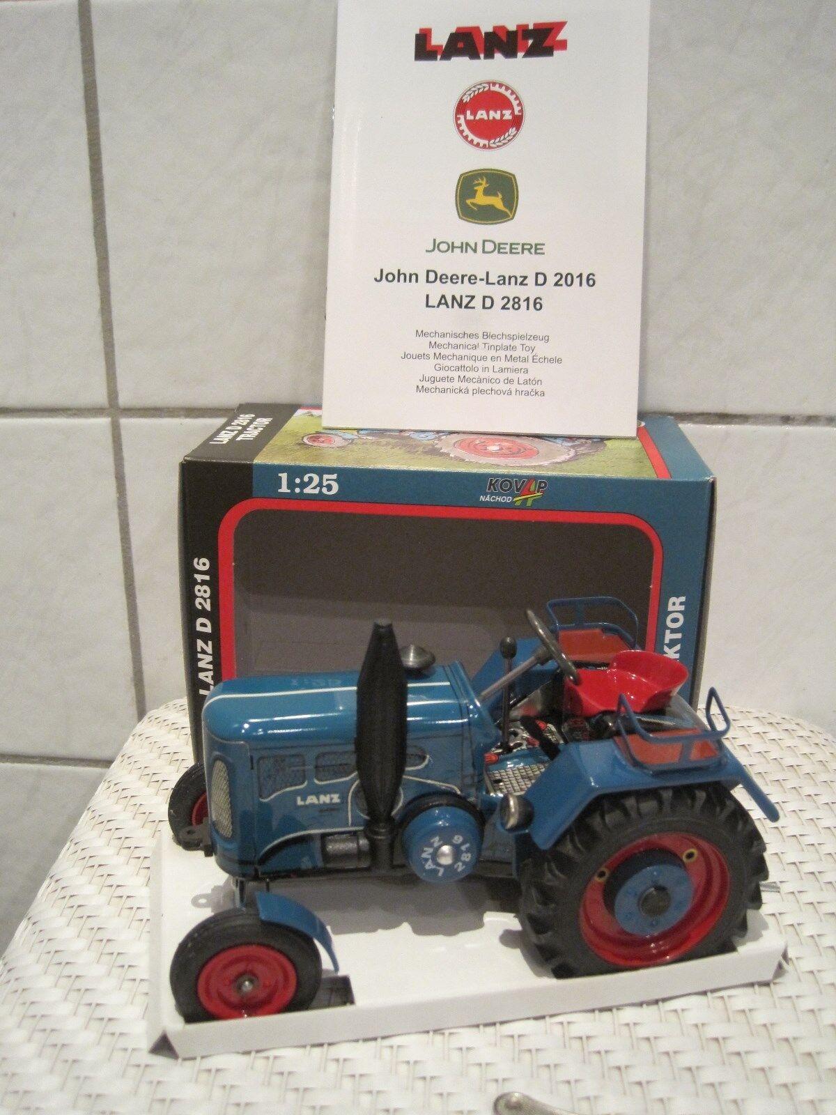 Blechspielzeug Traktor Schlepper Lanz D2816 1:25 NEU m. Funktion