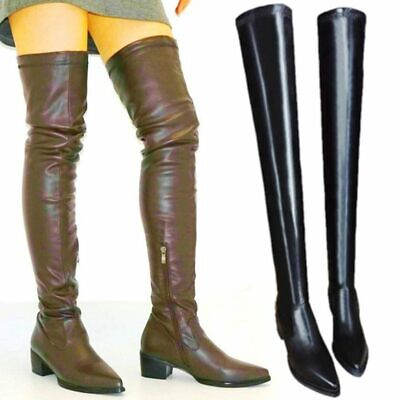 Thigh High Boots Women Soft Synthetic