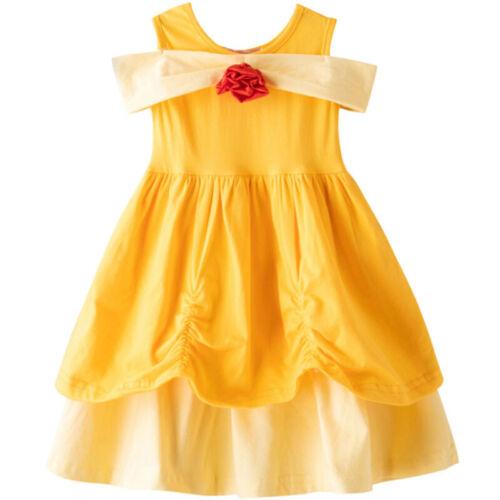 Girls Child Kids Cartoon Minnie Mouse Party Cosplay Dress Sleeveless Fancy Dress