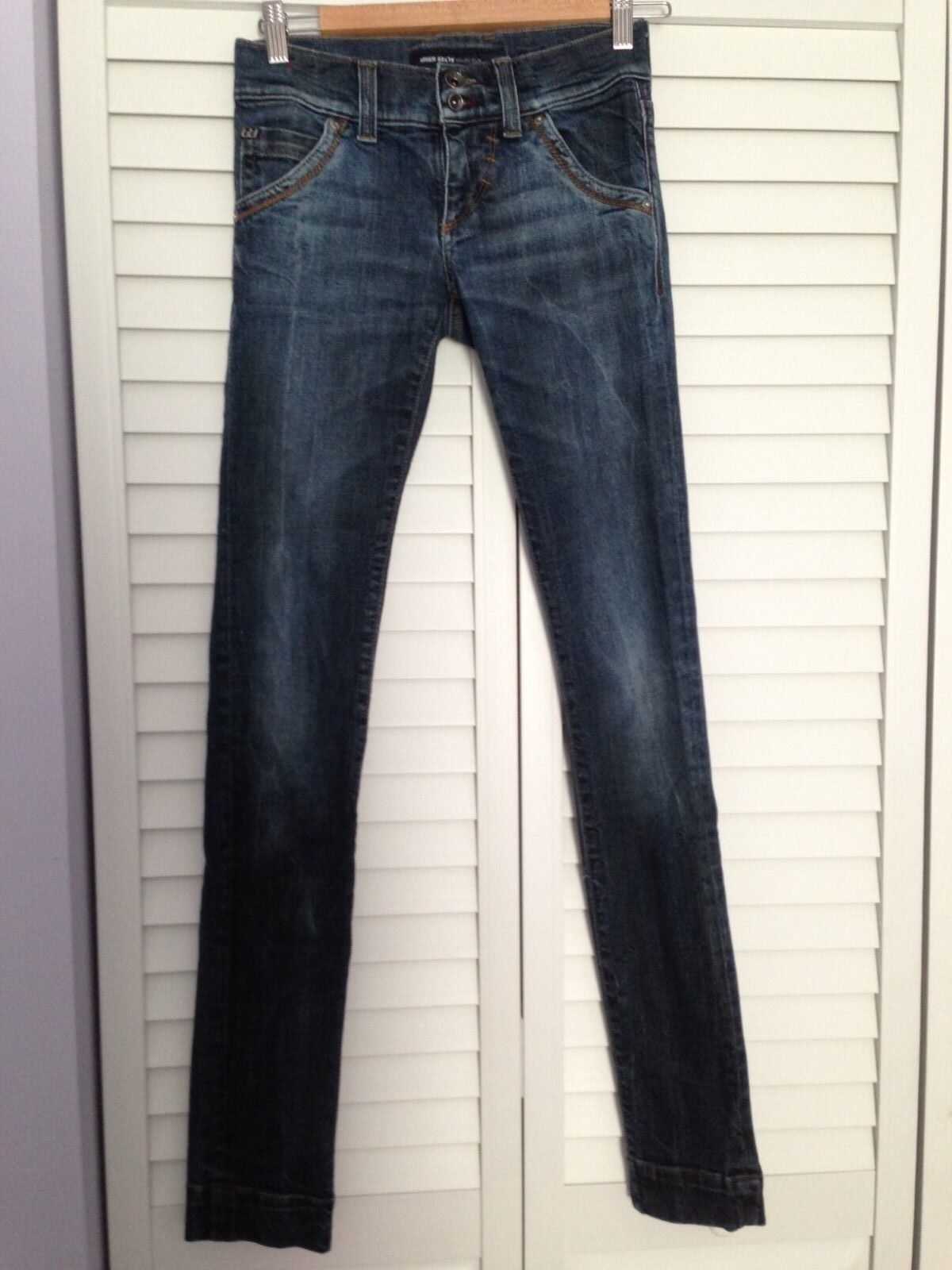 MISS SIXTY blueE SKINNY LOW RISE JEANS, SIZE 24
