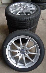 4-Mercedes-Benz-Komplettraeder-B-Klasse-W246-A-W176-CLA-X117-225-45-R17-91H-M-S