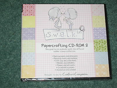 Crafters Companion Swalk papercrafting cd-rom 2