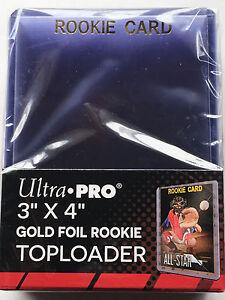 25-ULTRA-PRO-3x4-ULTRA-CLEAR-Hard-Plastic-GOLD-ROOKIE-toploaders-NBA-MLB-NEW