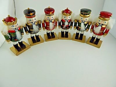 Christmas Nutcracker Place Card Holders lot of 6 Red and Black Uniforms Small
