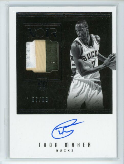 2016-17 Thon Maker 97/99 Auto Patch Panini Noir Autographs Rookie RC #119