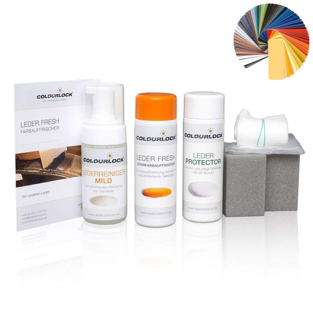 COLOURLOCK® Glattleder Nachtönungs- und Pflegeset mild lilata Toskana 39 grau