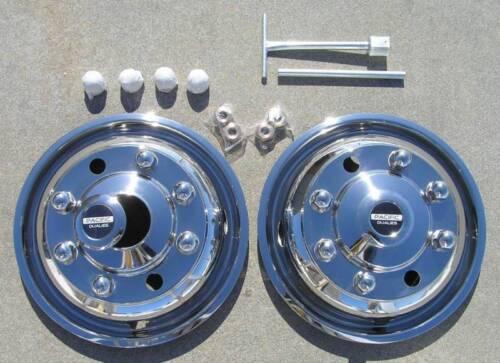 "19.5/"" Chevy GMC 6500 Dually Wheel Covers"