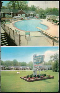 ESSEX-MD-Hawkins-Motel-Vintage-Middle-River-Postcard-Early-Baltimore-Old-PC