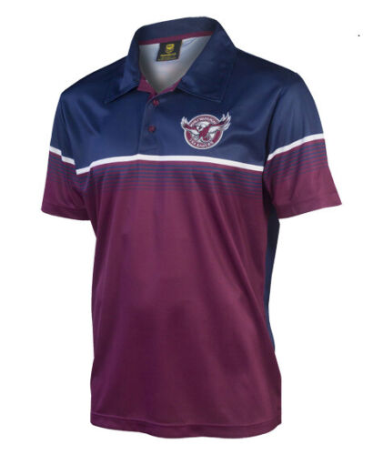 S7 Details about  /Manly Sea Eagles NRL Classic Sublimated Polo Shirt Size SMALL ONLY
