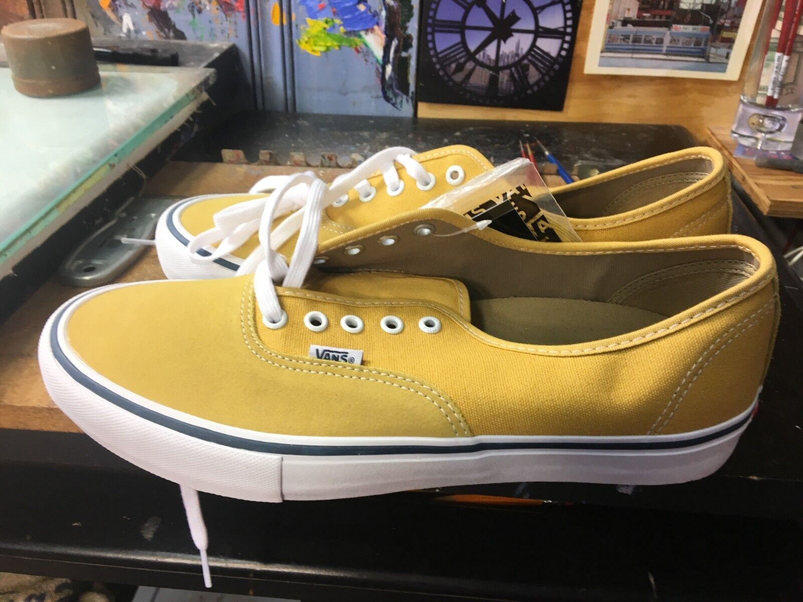 Vans Authentic PRO Ochre White Size US 12 Men's VN0A3479Q2H