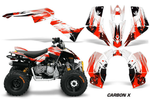 ATV Graphics Kit Quad Decal Sticker Wrap For Can-Am DS90 2007-2018 CARBONX RED