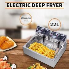 Zokop 22l Electric Deep Fryer Commercial Restaurant Stainless Steel 5000w 2021