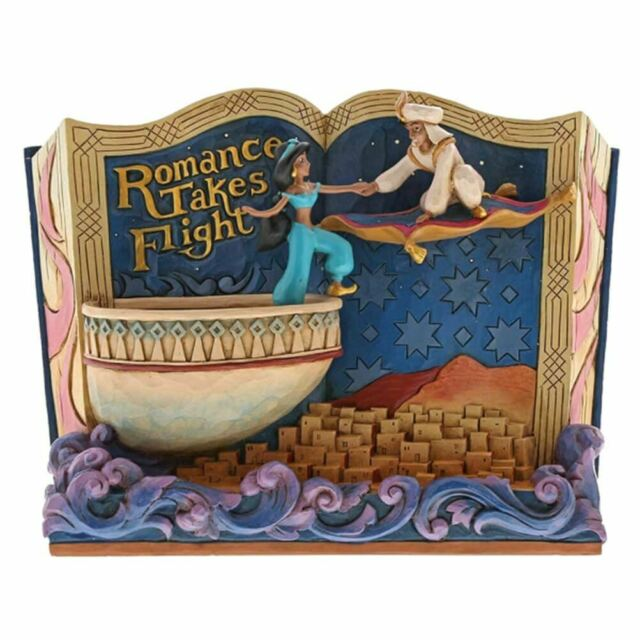 Disney Traditions Aladdin Romance Takes Flight Collectors Storybook Figurine