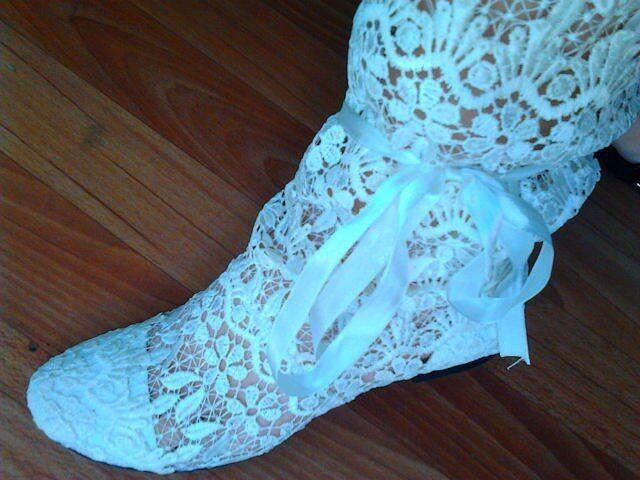 Sommer-Strick-Stiefel Gr.39 weiss Günstige und gute Schuhe