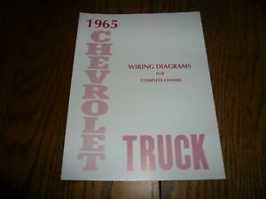 1965 Chevrolet Car & Truck Wiring Diagrams for Complete ...