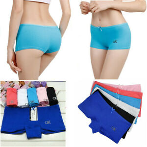 Pack of 6 Womens Ladies Lace French Knickers Soft Boxer Underwear Shorts Panties
