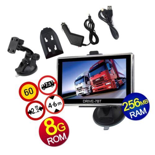 """7bt para camiones autobús 7/"""" GPS Navegación sistema Navi Drive caravana y Camper. automóviles"""
