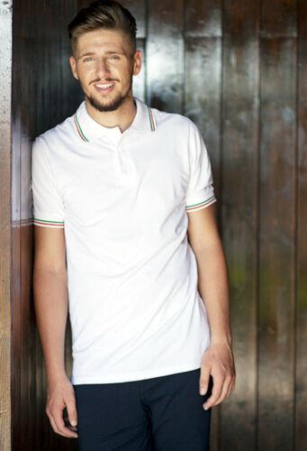 Polo Uomo maglia t shirt maglietta manica corta da lavoro cotone slim fit sport