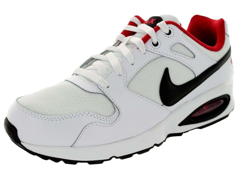 Men's Nike Air Max Coliseum Racer Running Shoes, 555423 102 Sizes 8.5-12 Wht/Blk