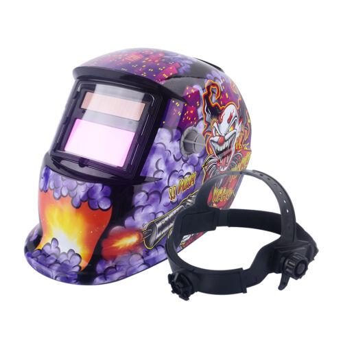 Automatik Schweißmaske Schweißhelm Solar Schweißschirm Schweißschild Clown ZI 03
