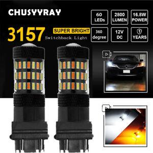 Amber Turn Signal Light 3157 3157A LED Bulbs For Ford F150 F250 F350 Super Duty