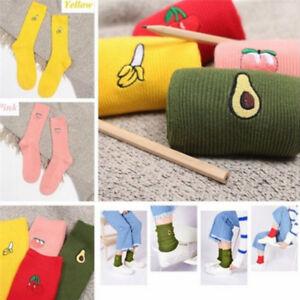 Chaussettes-de-coton-imprime-femmes-chaussettes-retro-broderie-longue-coloree