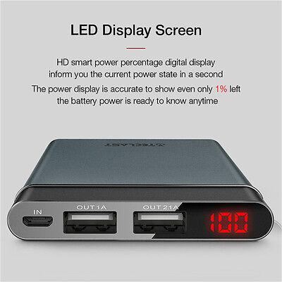 10000mAh Protable Dual USB Port LED Display External Power Bank Battery Charger