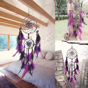 Dreamcatcher-Dream-Catcher-w-Feathers-Car-Wall-Hanging-Decoration-Ornament