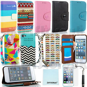 Leather-Wallet-Card-Slots-Case-Cover-For-APPLE-iPod-Touch-5th-6th-Generation-5-6