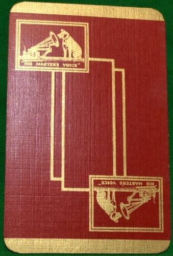 Playing Cards 1 Single Swap Card Vintage HMV HIS MASTERS VOICE Gramophone DOG