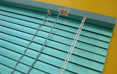 Aluminium Alu Jalousie Jalousette Fenster Tür Rollo Mint Grün Metallic 100 x 130