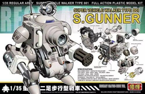 Metal Slug 1//35 Super Vehicle Walker Type 001 S.GUNNER Full Action Model Kit